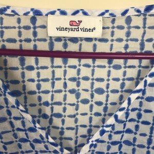 Vineyard Vines Dresses - Vineyard Vines Tie Dye Squares Cover Up Tassle